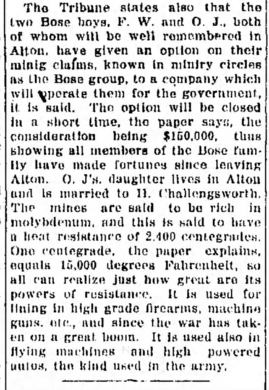 Bose Group - Tho Tribune stales also that th two Bose boys,...