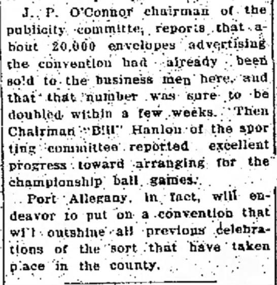 J.P. O'Connor Commissioner - J.. P. O'Connor chairman o( the pubiicity...