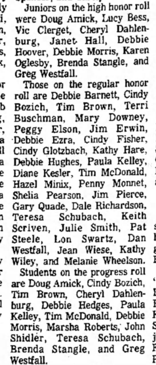 12-10-1972 Honon roll