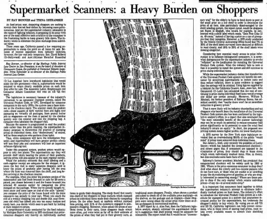 Op-ed about prices on scanned items