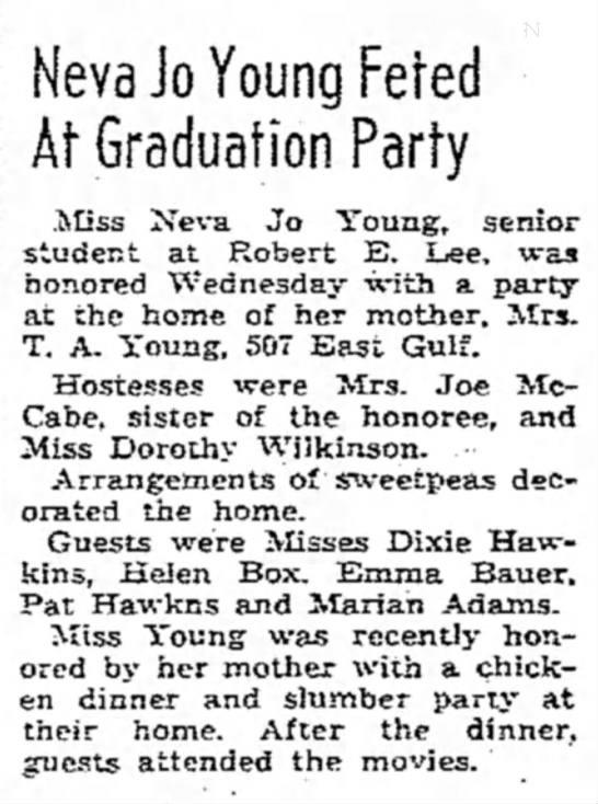 Neva Young - Neva Jo Young Feted At Graduation Party Miss...