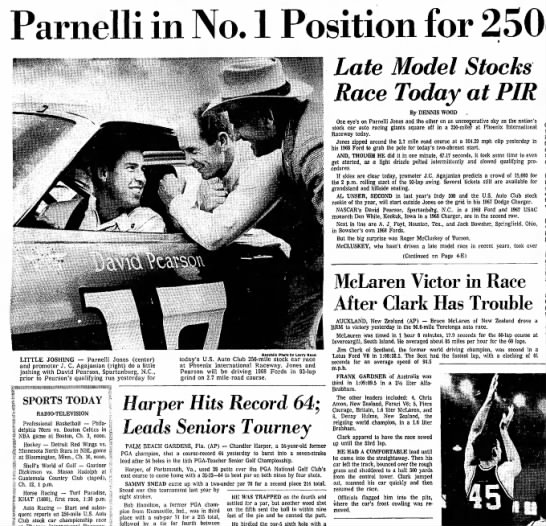 680128 Repub Qual 1 - Parnelli in No. 1 Position for LITTLE JOSHING —...