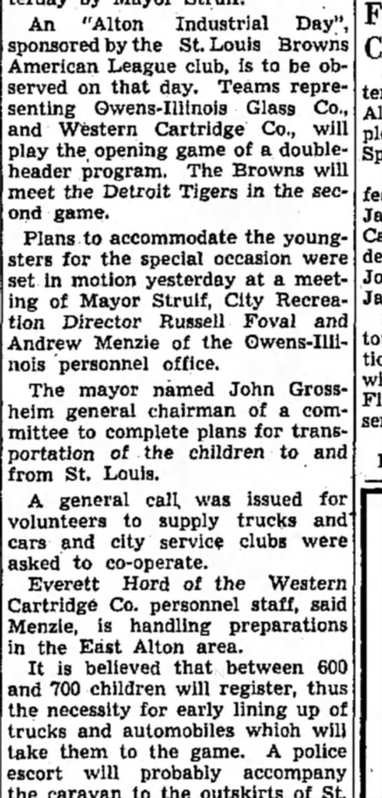 """menzie 1939 - An """"Alton Industrial Day"""" sponsored by the St...."""