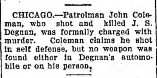 Alton Evening Telegraph John Degnan murder
