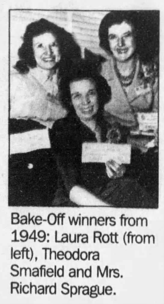 - : .rd , Bake-Off winners from 1949: Laura Rott...