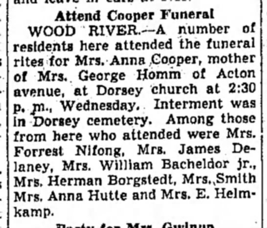 - Attend Cooper Funeral WOOD RIVER.—A number of...