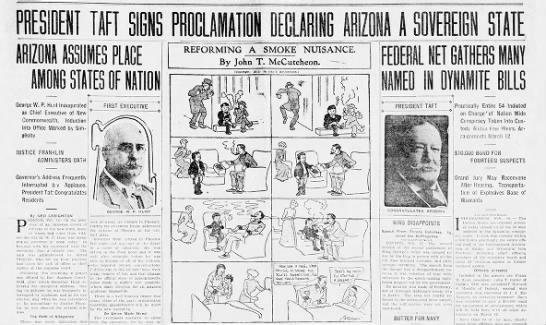 Arizona becomes a U.S. state