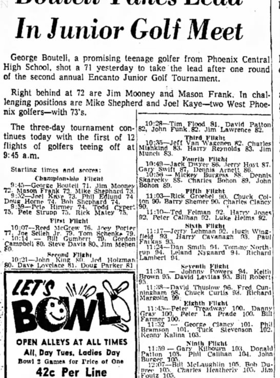 Phil, golf tournament 1959