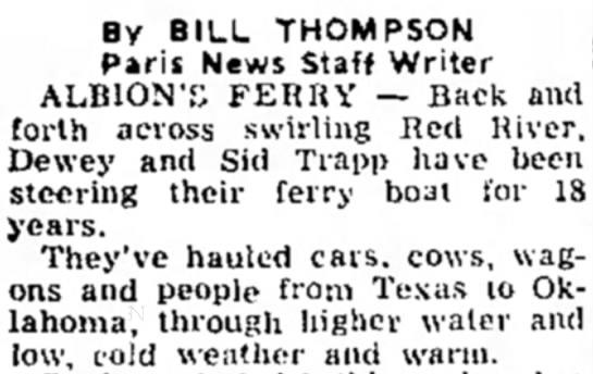 - By BILL THOMPSON Paris News Staff Writer...