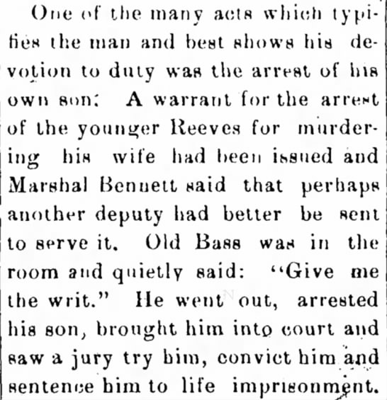 Arrested his son for murder - One of the many acts which typifies typifies...