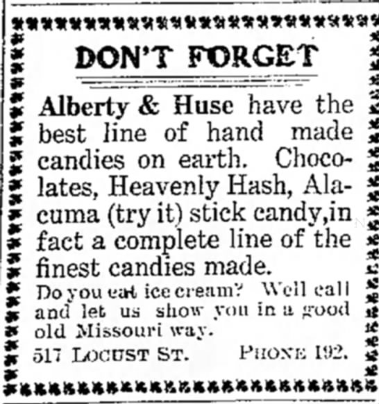 Alberty & Huse Candy Store