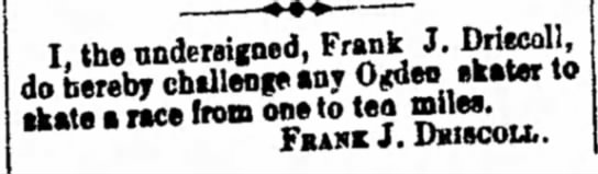 Ogden Skaters Are Hereby Challenged - I, the undersigned, Frank J. do hereby...