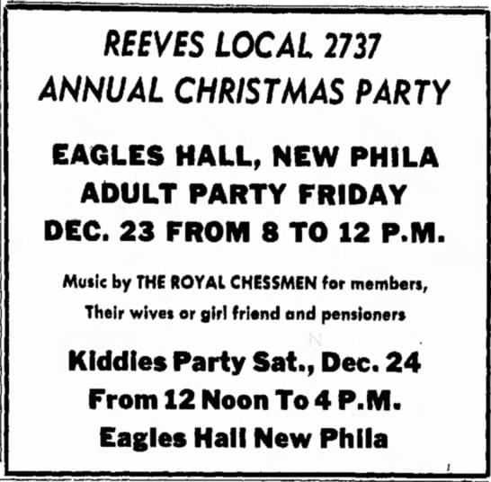 done - RKVES LOCAL 2737 ANNUAL CHRISTMAS PARTY EAGLES...