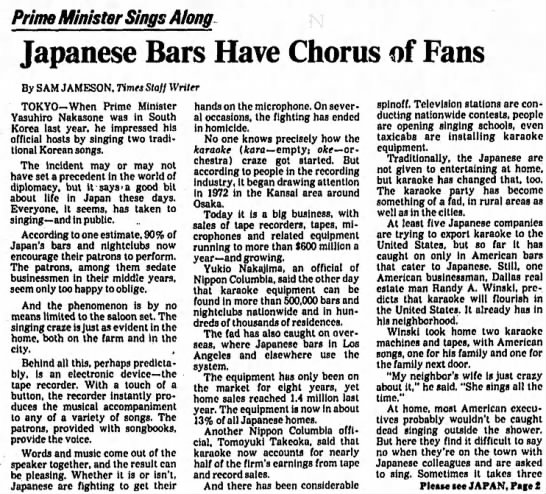 - Prime Minister Sings Along Japanese Bars Have...