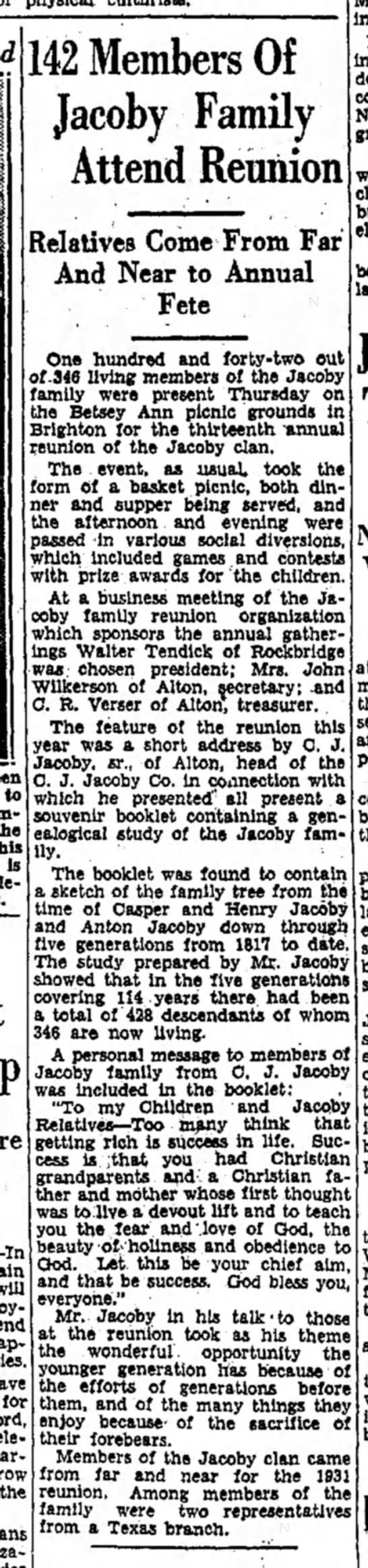 Anton JacobyAugust 21, 1931
