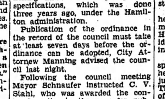 F Manning - a specifications, which was done three years...