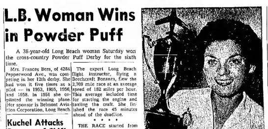 1961-Independent Press-Telegram - LB. Woman Wins in Powder Puff A 36-year-ofd...