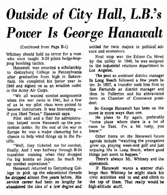 George Hanawalt (cont)