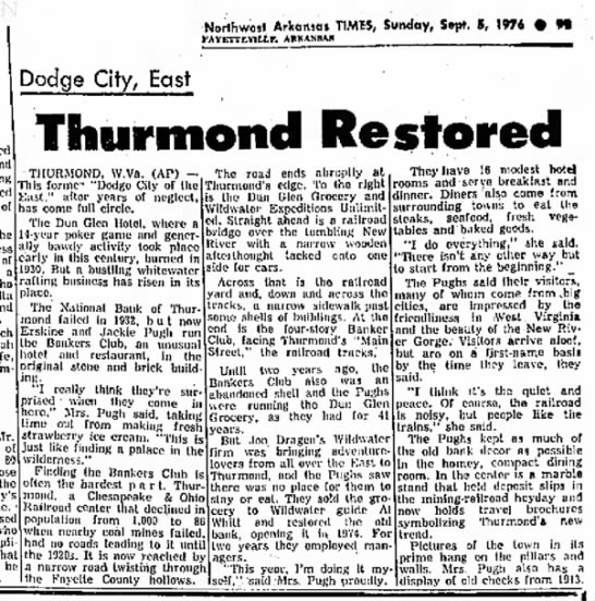 Sept 4 1976 - Good article with info on Bankers Club history and Thurmond in the 1970s - am o h o Rh. micron Ded an churc wife of M \vh...