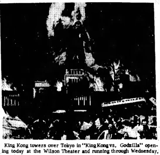 """- King Kong towers over Tokyo in """"King Kong vs...."""