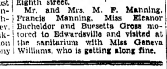 Mr & Mrs M F Manning. F Manning - Eighth street. ' Mr. and Mrs. M. F. Manning,...