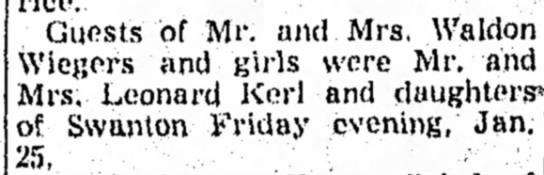 Kerl, Leonard and family 6 Feb 1952