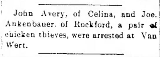 The Daily Herald (Delphos, OH) 21 Jun 1898 - John A very, of Celina, and Joe. Ankenbauer. of...