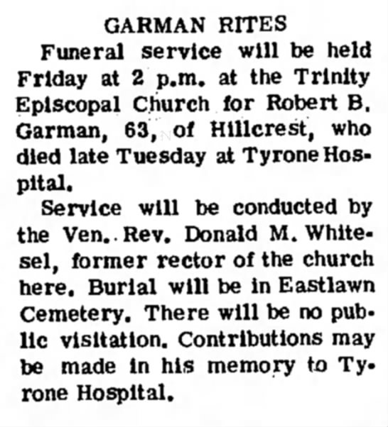 - CARMAN RITES Funeral service will be held...