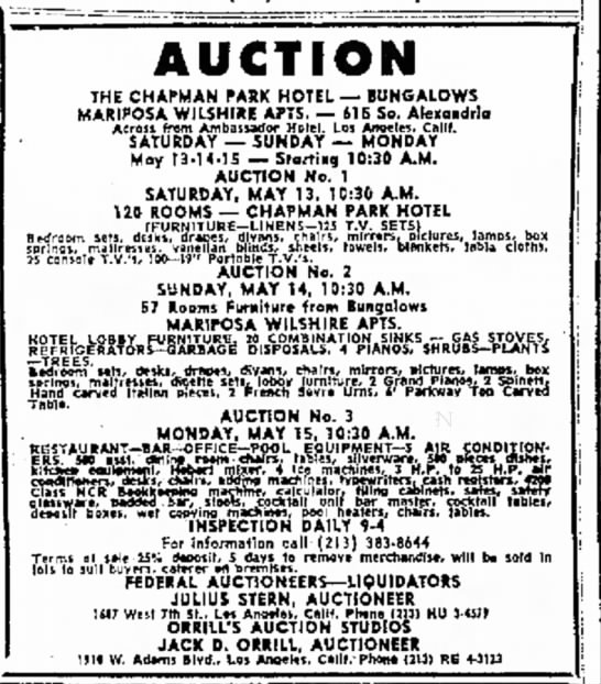 Jack Dempsey Orrill- Auction