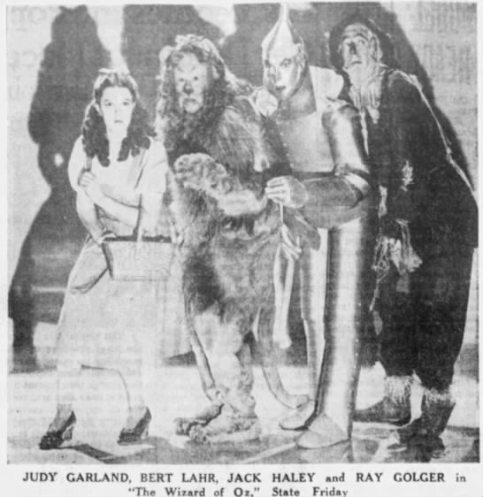 "The Wizard of Oz - ""V. .- .- 1 i 3 JUDY GARLAND, BERT LAHR, JACK..."