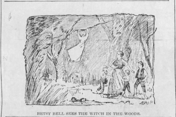 Betsy Bell sees the Witch in the Woods