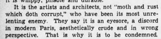 "Some critics - It is the artists and architects, not ""moth and..."