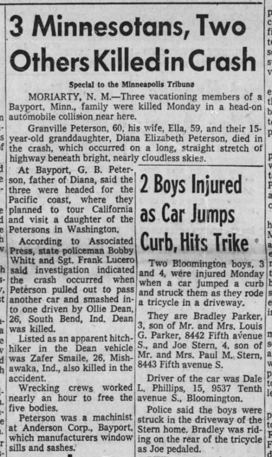 Granville Death - Paynes- a Will- 3 Minnesotans, Two Others...