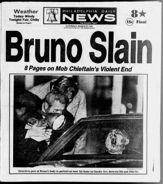 Mob boss Angelo Bruno killed, 1980