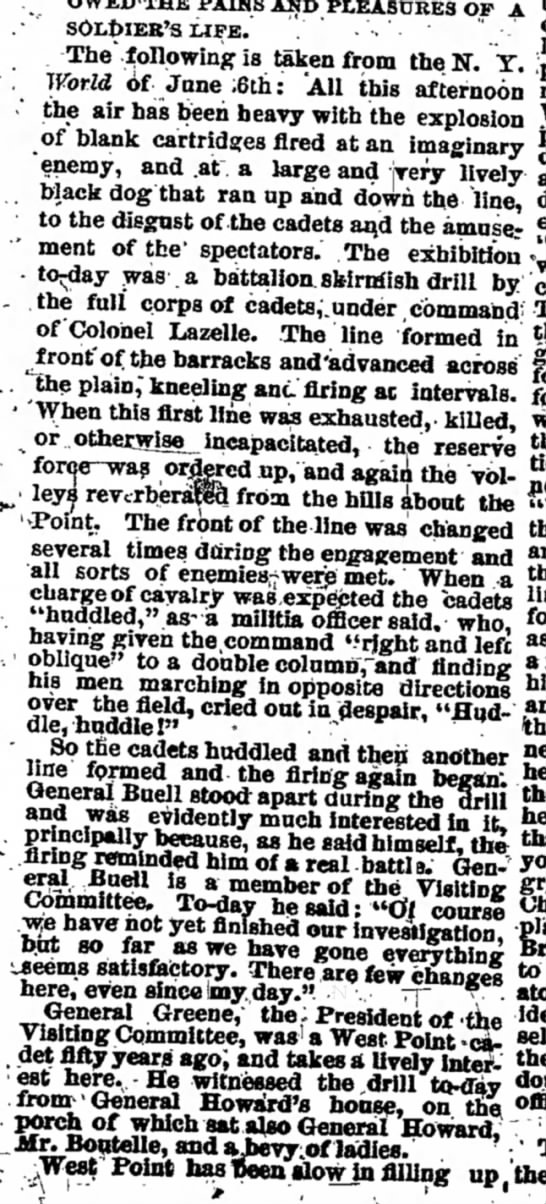Bangor Daily Whig & Courier, Bangor, Maine, 11 June 1881 - pains and PLEASURES of a de-sOlDieb's life. The...