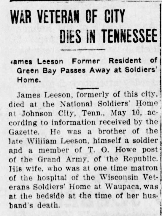 - WAR VETERAN OF CITY DIES Ifi TENNESSEE ame...