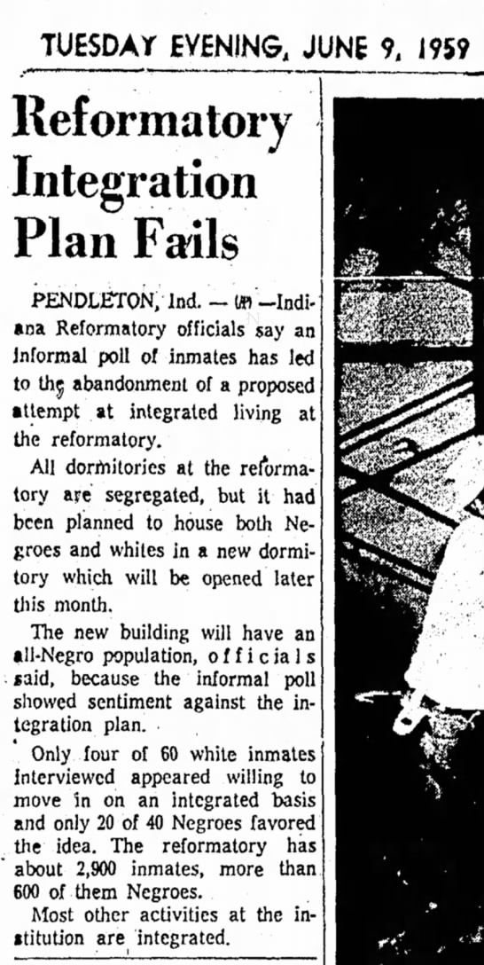 Pendleton Reform - TUESDAY EVENING, JUNE 9, 1959 Reformatory...