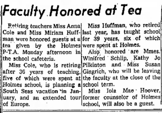 KATHY JO PILKINTON RETIRING TEACHER