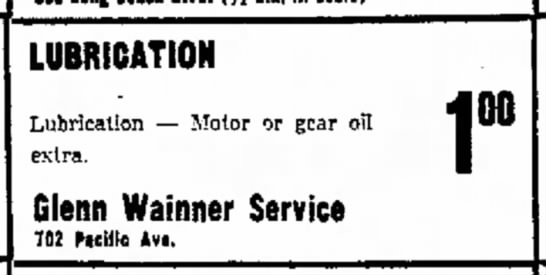 Glenn Byron Wainner - LUBRICATION Lubrication -- Motor or gear oil...