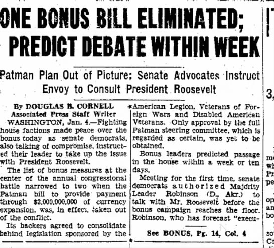 Hello - ONE BONUS BILL ELIMINATED: PREDICT DEBATE...