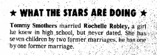 Rachelle Robley-Tommy Smothers-Naples Daily News, FL-p.86-11 August 1974