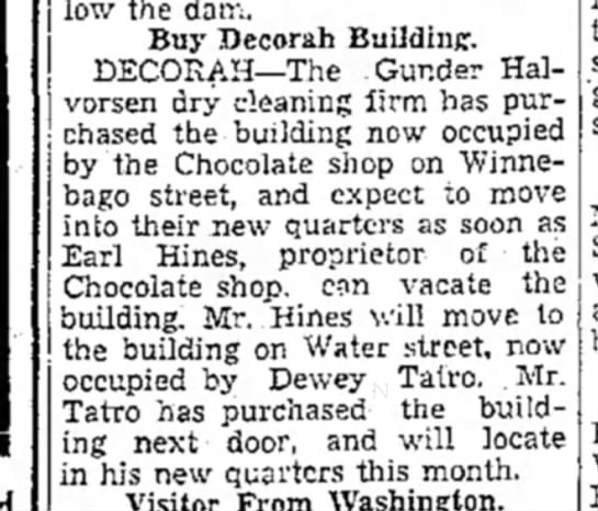 1937 The Mason City Globe Gazette 4.6.1937 - below the dam. Buy Decorah Building....