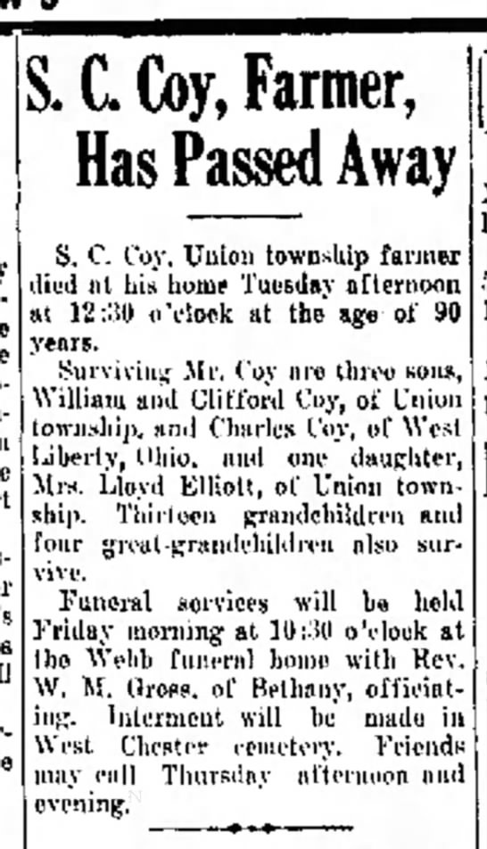 The Hamilton Examiner, 15 Jan, 1936 - the conjunction the court . C. Coy, Farmer, Has...