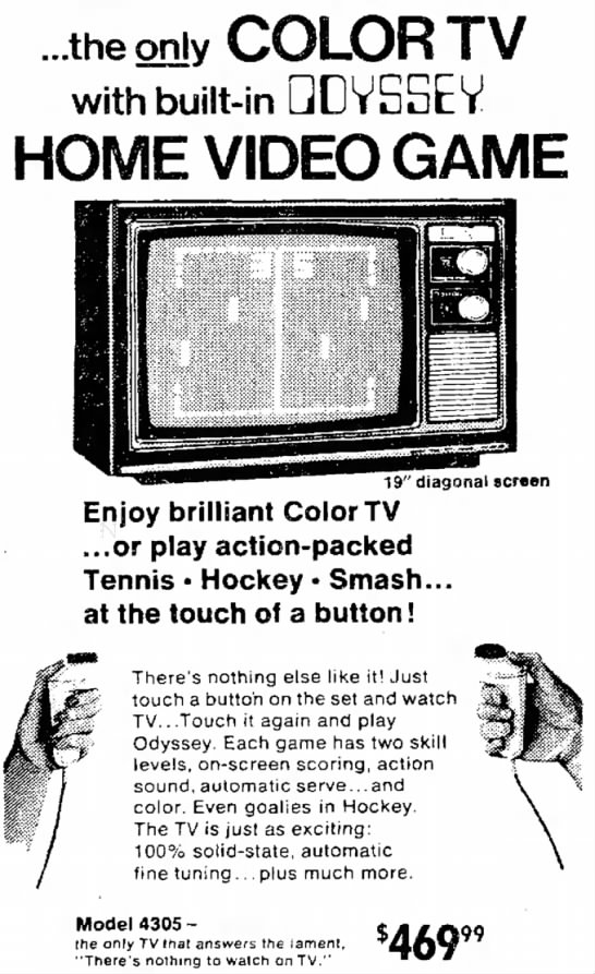 - ...the only COLOR TV with built-in QDVSSEV HOME...