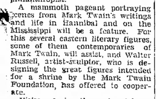 Jefferson City Post-Tribune (Jefferson City, Missouri) 4 January 1935  Page 5 - A mammoth pageant portraying :enes from Mark...