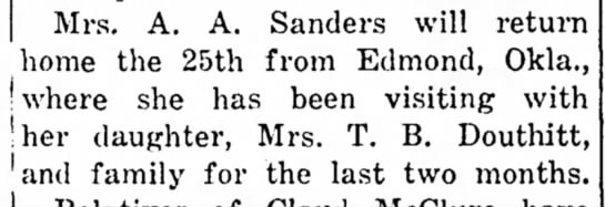 T B Douthitt