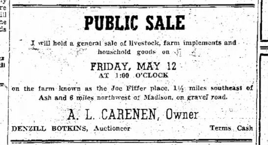 A L Carenen sale