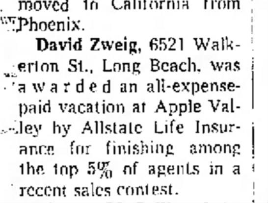 "Davis Zeig - moved to California from ""^Phoenix. David..."