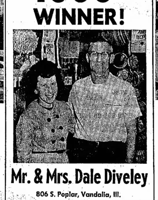 Mr and Mrs Dale Diveley 1965