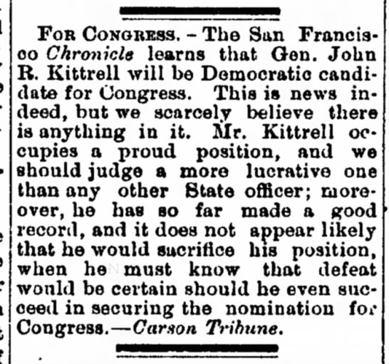 John R Kittrell, candidate for Congress. - Oriental parties, that the extent. the order in...